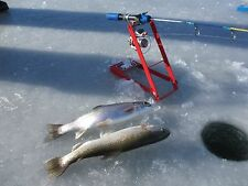 BIG RED Ice Fishing Tip Down-Tip Up Rod Pole Holder for larger reel heavier line