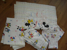MIckey & Minnie Mouse Cot Nursery Toddler Bedding Bundle Vintage