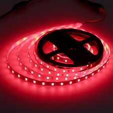 5Mtrs 300 LED Red Waterproof 12 Volt Self Adhesive Light Strips