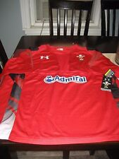 MENS WRU WELSH RUGBY UNION Under Armour jersey RED Size 3XL NWT $80