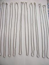 10 x 18in x 2mm silver colour open link chains ideal for jewellery making