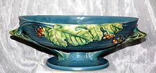 Roseville Pottery Bushberry BLUE Compote 1-10 FB
