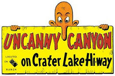 Uncanny Canyon Crater Lake Vintage-Looking Travel Decal