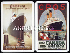 PACIFIC OCEAN LINER CRUISE Ship Boat (2) SINGLE Swap Playing Cards NOT DECK