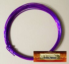 M00439 MOREZMORE Soft Fun Wire 18 GA PURPLE Craft Anodized Metal OOAK Wings