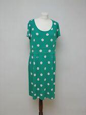 Boden Grün Polka Dots Punkten Jersey Kleid UK18R Gr.44