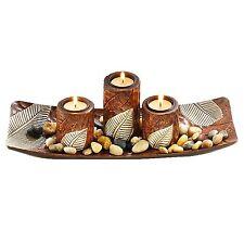 Tischdeko Dekoset Afrika mit Dekoschale Kerzenhalter und Dekosteine Exotic 34037