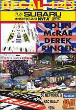 DECAL 1/43 SUBARU IMPREZA 555 C.MCRAE RAC 1994 WINNER (03)