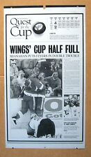 """Detroit Red Wings """"Wings' Cup Half Full!""""  Printing plate  ! RARE One-of-a-Kind"""