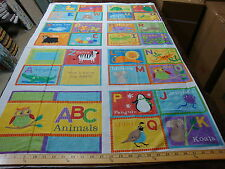 crafts apparel quilting fabric 100% cotton   Abc book  Panel  With Instructions