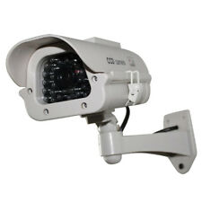 Fake Dummy Solar Powered Security CCD Camera Red Blinking LED  #3YE