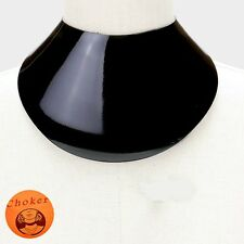 "13.50"" black 4.25"" wide sheet choker collar necklace bib replica"