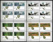 Canada -Set of 4 Miniat. Panes of 4 -Majestic Forests #1283a-86b -MNH