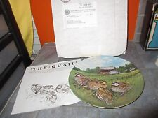 "Knowles UPLAND BIRDS OF NORTH AMERICA "" THE QUAIL "" Plate Wayne  Anderson"
