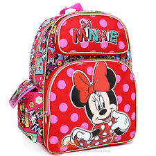 "Disney Minnie Mouse Large School Backpack 16"" Book Bag - All Over Comic Book"