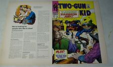 TWO GUN KID #92 original approval cover proof, 1960's MARVEL, COVER ART!!
