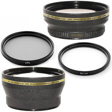 Wide Angle,Telephoto Lens kit,CPL,UV Filter for Canon XL1 Xl-2 XH-G1 XL-H1 XH-A1