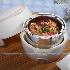Mini Electric 1.3L Rice Cooker Food Lunch Steamer Stainless Steel Grey UK PLUG