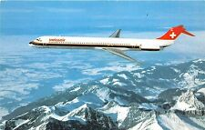B57160 airplains avions Swiss air McDonnel Douglas MD81