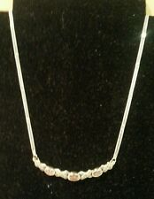 Marcasite Sterling Silver Amethyst Necklace by Pacific Silver New