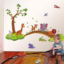 Dessin Animé Mignon Animal Amovible Autocollant Mural Pour Les Enfants