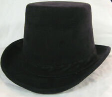 New Authentic Black Coachman Hat Wedding Formal Prom Caroling Costume Steampunk