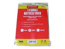 Double Vinyl Plastic Fitted Mattress Bed Cover Sheet Protector
