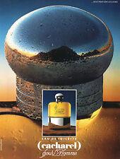 Publicité Advertising 1994  Parfum  CACHAREL  pour l'homme eau de toilette
