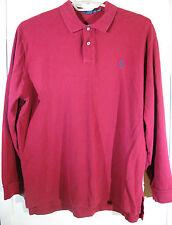 Polo Ralph Lauren XXL Pullover Knit Shirt Maroon Red 2XL Long Sleeve