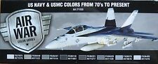 Vallejo Model Air VAL71155 Modern US Navy + USMC aircraft  8 colour paint set