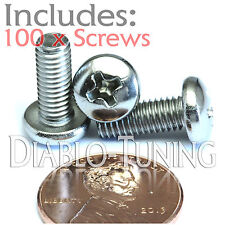 "#10-32 x 1/2"" Stainless Steel - Qty 100 - Network Server Rack Rail Mount Screws"