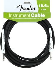 New Fender Performance Series 18.6 Foot Instrument Cable (18 ft Guitar Lead)