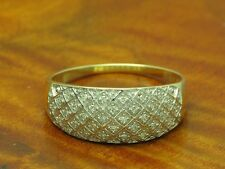 9kt 375 GOLD RING MIT 0,17ct DIAMANT BESATZ / DIAMANTRING GOLDRING