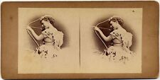 CUPID WITH BOW AND ARROW STEREOVIEW