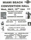 "KERRY VON ERICH vs SUPERSTAR GRAHAM - NWA TITLE 1984 - 11""X14"" POSTER"