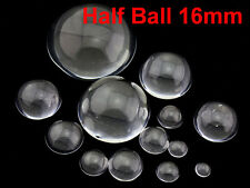 16mm Glass Crystal Paper Weight Clear Half Sphere Ball Magnifying Glass Lens