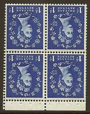 SB27a 1d Wilding Edward Crown booklet pane perf type P UNMOUNTED MNT/MNH
