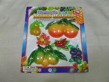 Set of 6 Magnetic Memo Holders/ Refrigerator Magnets Fruit & Vegetable Shape (#4