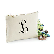 Personalised Initial Make Up Bag - Birthday Christmas Gift Present Xmas