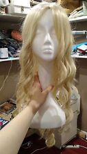 Long Blonde Curly Wavy Cosplay Wig