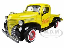 "1941 PLYMOUTH PICKUP TRUCK YELLOW ""COCA COLA"" 1/24 BY MOTORCITY CLASSICS 439829"