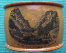 1850 Superb Treen Glen of the Downs Co Wicklow Mauchlineware Napkin Ring