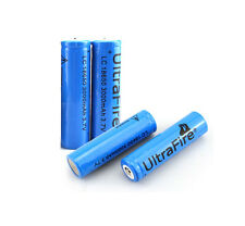 4pcs UltraFire 3.7V 18650 3000mAh Rechargeable Battery for Flashlight Headlamp