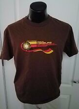 2006 FIFA World Cup Berlin Hamburg Soccer Futbol Brown T Shirt Large Rare