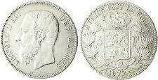 BELGIQUE  LEOPOLD  II  ,  5  FRANCS    1872