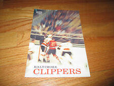 1967-68 American Hockey League AHL BALTIMORE CLIPPERS v CLEVELAND BARONS Program