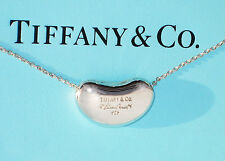 Tiffany & Co Sterling Silver Elsa Peretti 18mm Bean Pendant Necklace