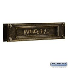 Salsbury Mail Slot - Deluxe - Solid Brass - Antique Finish-MAILBOX 4075A NEW