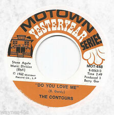 CONTOURS 45 * Do You Love Me / Shake Sherrie * 1962 * MINT * MOTOWN Yesteryear