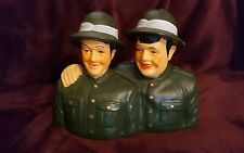 FUN LAUREL AND HARDY CERAMIC FIGURINES - ARMY BUDDIES
